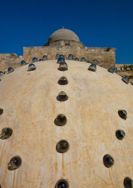 Baths Domes Inside The Aleppo Citadel,  Syria