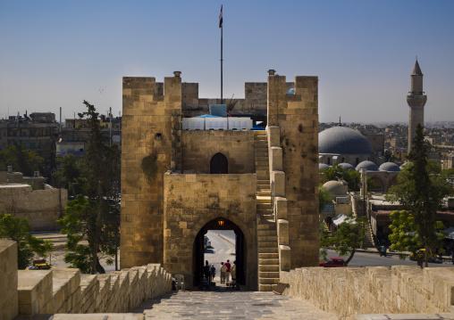 Bridge Leading To The Citadel, Aleppo, Syria