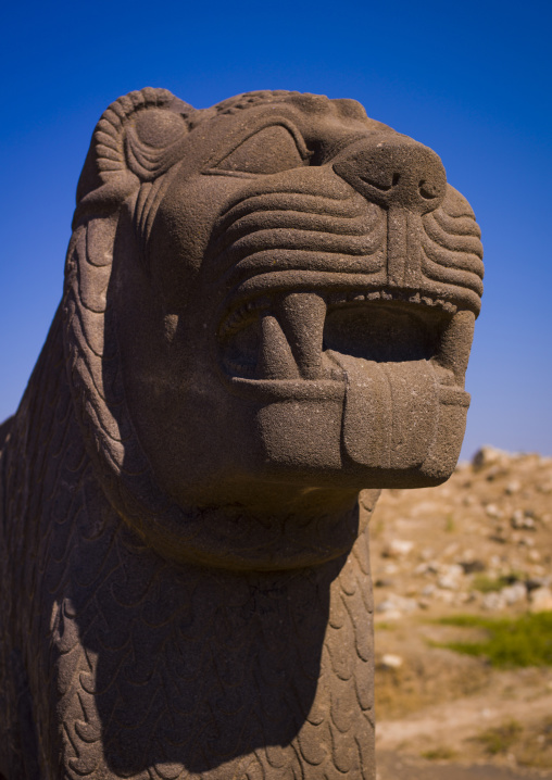 Massive Basalt Hittite Lion Carving, Syria