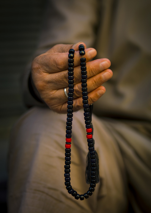 Syrian Man Holding Islamic Prayer Beads, Aleppo, Aleppo Governorate, Syria
