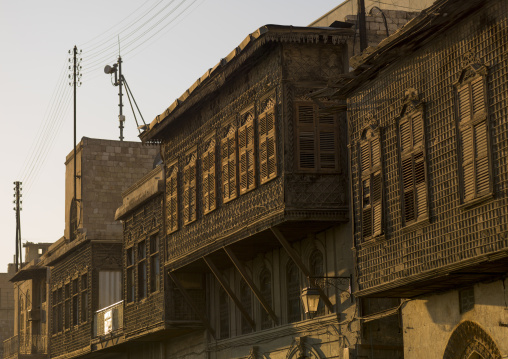 Old House Moucharabieh In Aleppo, Syria