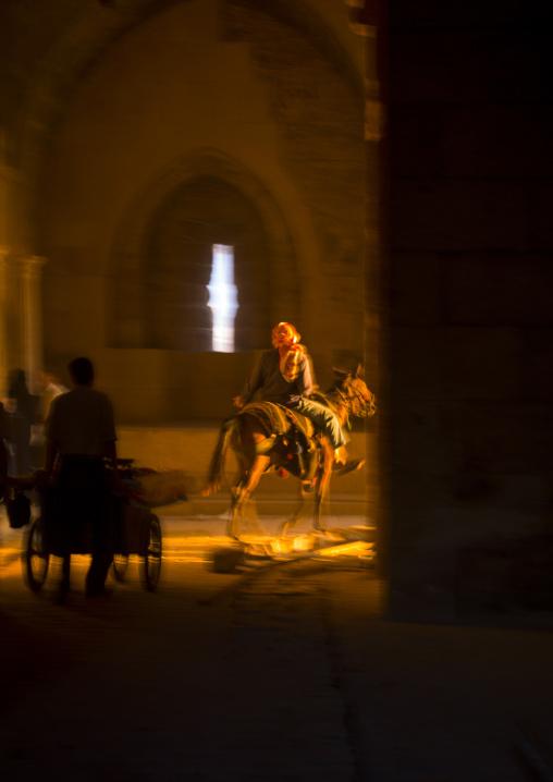 Horseman at Bab Qennesrine, Aleppo, Syria
