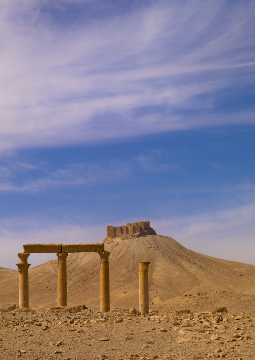 Hilltop Fort In The Ancient Roman city of Palmyra, Syria