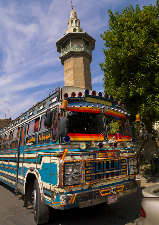 Decorated Bus In Damascus, Syria