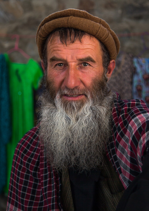 Portrait of an afghan man in the market border with Afghanistan, Central Asia, Ishkashim, Tajikistan