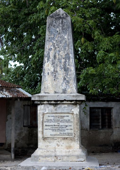 German monument, Kilwa kivinje, Tanzania