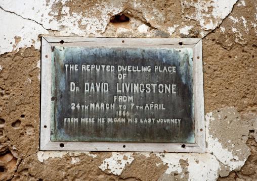 Livingstone in mikindani, Tanzania