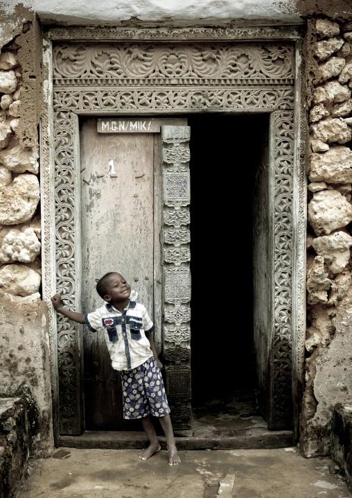 Door in mikindani, Tanzania