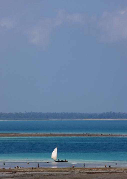 Dhow on nungwi beach zanzibar, Tanzania