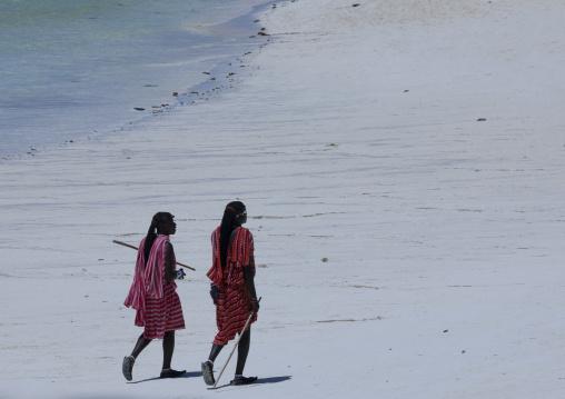 Masais on nungwi beach zanzibar, Tanzania