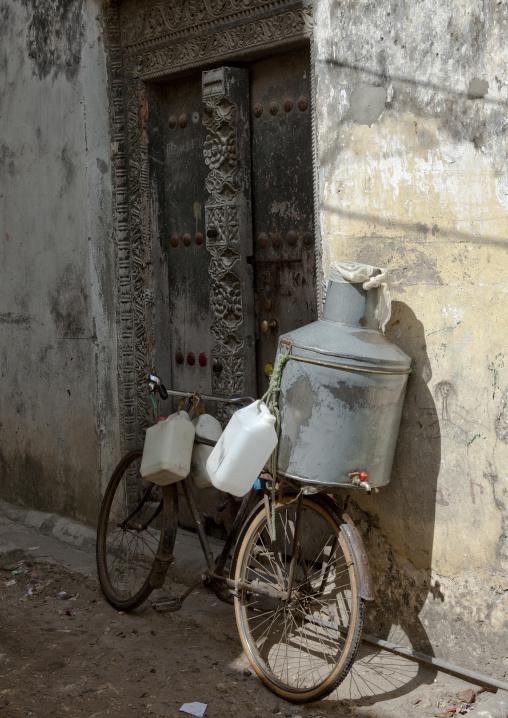 Milk delivery in stone town zanzibar, Tanzania