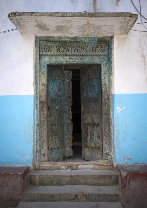 Old door in stone town zanzibar, Tanzania