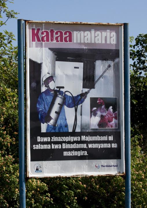 Malaria pannel, Zanzibar, Tanzania