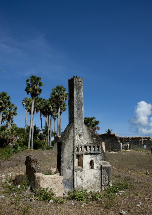 Tomb in the mkumbuu ancient town, Pemba, Tanzania