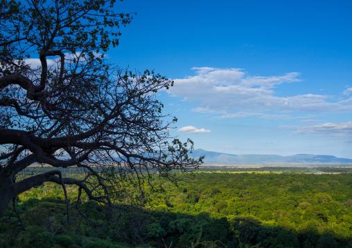 Tanzania, Park Manyara, Arusha, landscape with clouds