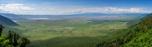 Tanzania, Ashura region, Ngorongoro Conservation Area, landscape of crater
