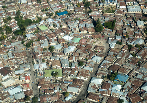 Tanzania, Zanzibar, Stone Town, a densely inhabited residential area of zanzibar