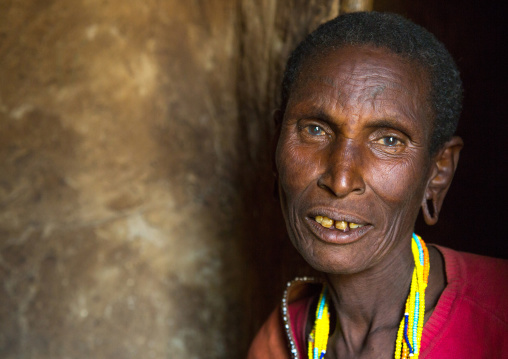 Tanzania, Serengeti Plateau, Lake Eyasi, datoga tribe woman with scarifications and tattoos on the face