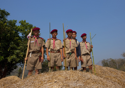 Scouts in mae hong son area, Thailand
