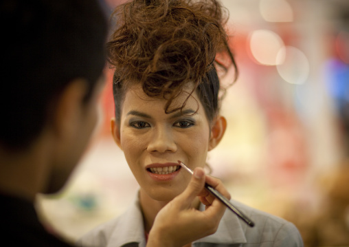 Man having a make up, Bangkok, Thailand