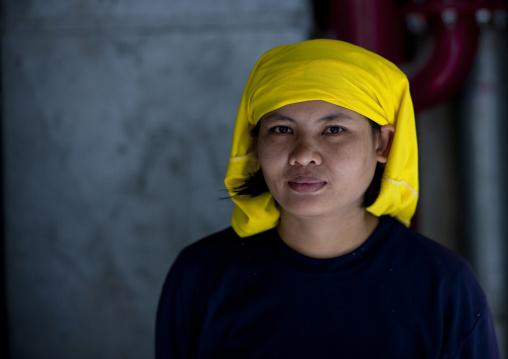Female construction worker, Bangkok, Thailand