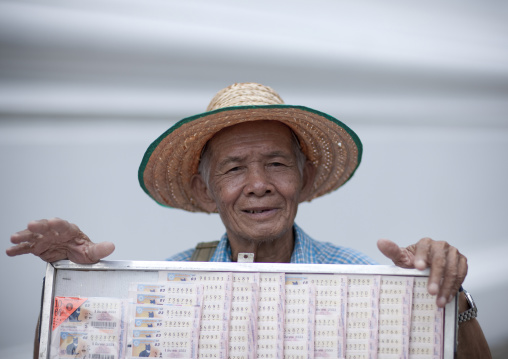 Loto seller, Bangkok, Thailand