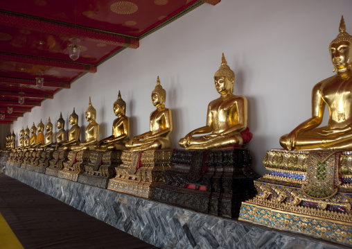Statues in temple, Bangkok, Thailand