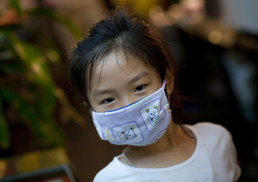 Little chinese girl from chinatown, Bangkok, Thailand