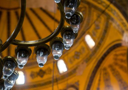 Chandelier of Hagia Sophia, Sultanahmet, istanbul, Turkey