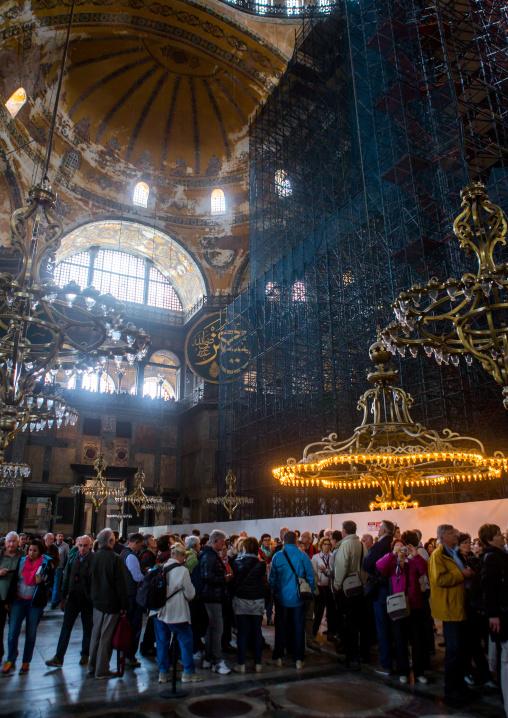 View inside the Hagia Sophia, Sultanahmet, istanbul, Turkey