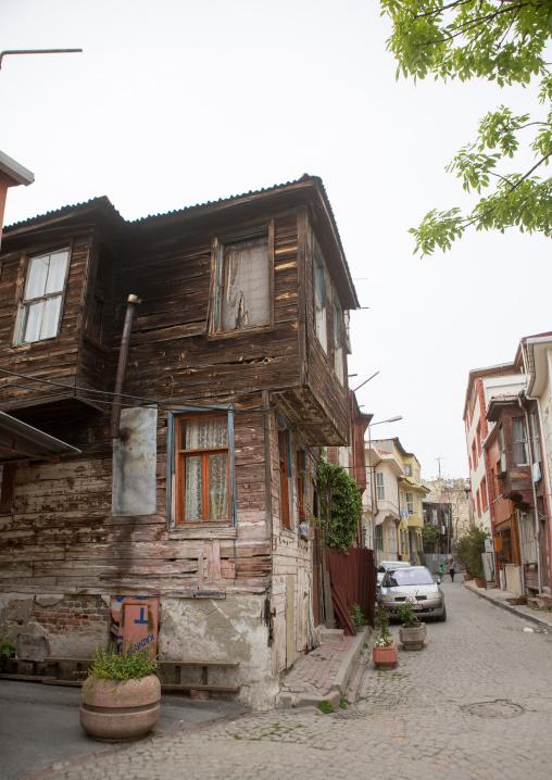 Old wooden style house near the Bosphorus sea, Marmara Region, istanbul, Turkey