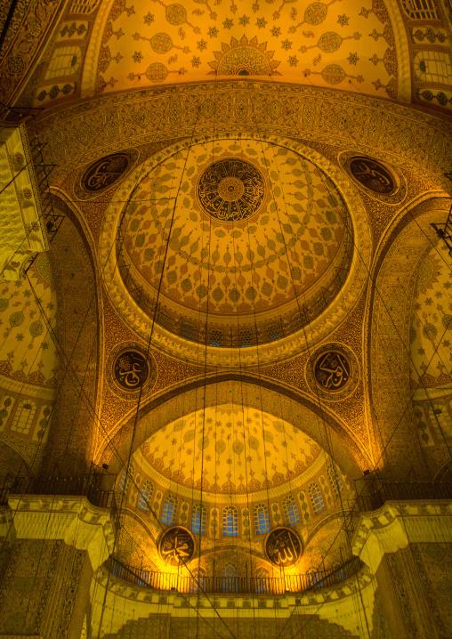 New mosque Yeni Camii ceiling, Marmara Region, istanbul, Turkey