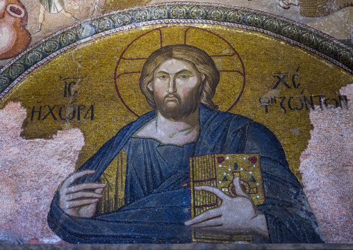 Mosaic of christ in the land of the living in the byzantine church of st. Savior in Chora, Edirnekapı, istanbul, Turkey