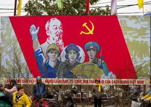 Propaganda billboards of the communist party, Hanoi, Vietnam