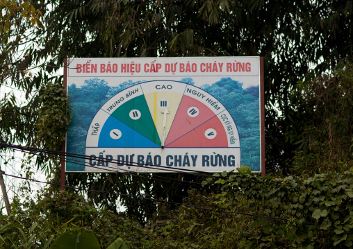 Panel showing the policy of agriculture, Sapa, Vietnam