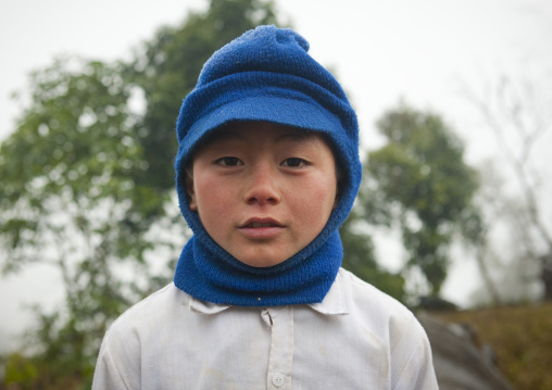 Flower hmong boy  with a balaclava, Sapa, Vietnam