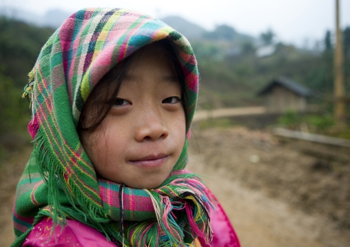 Young flower hmong girl with a veil, Sapa, Vietnam