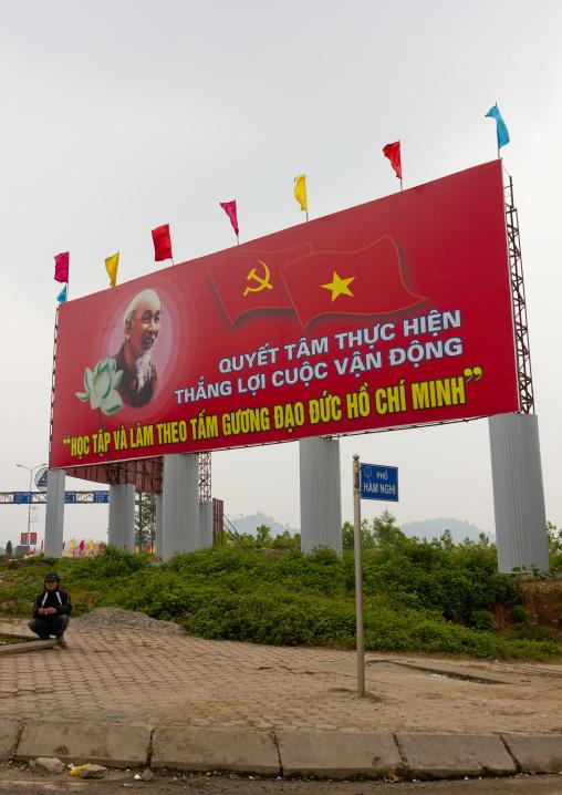 Propaganda of the communist party, Sapa, Vietnam