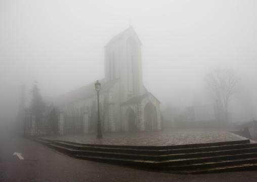 Church in the fog, Sapa, Vietnam