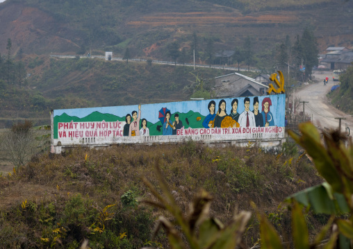 Wall painting in the countryside, Sapa, Vietnam