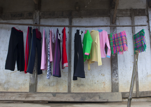 Clothes drying on a clothes line, Sapa, Vietnam