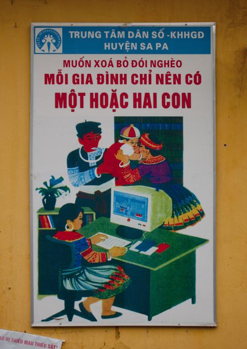 Propaganda poster in sapa, Vietnam