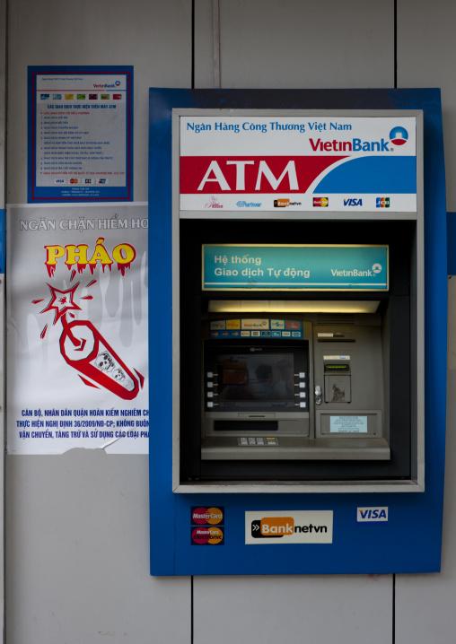 Atm cash machine in hanoi, Vietnam