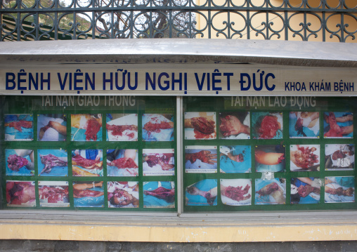 Pictures of an awareness campaign warning about the dangers of firecrackers, Hanoi, Vietnam