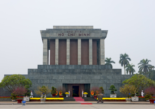 Ho chi minh mausoleum in ba dinh square, Hanoi, Vietnam
