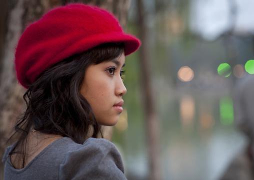 Beautiful young woman in hanoi, Vietnam