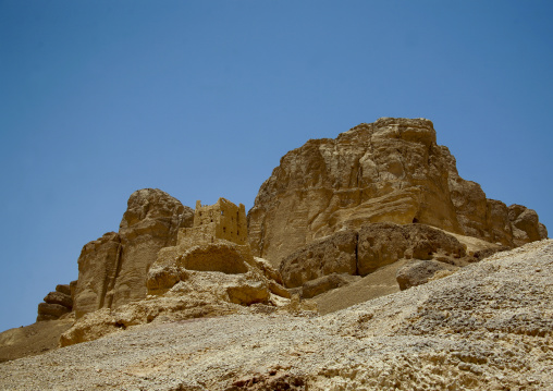 Remains Of A House Merged With The Cliff,  Hadramaut, Yemen