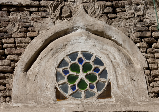 Rose Window On The Front Of A Traditional Sanaa House, Yemen