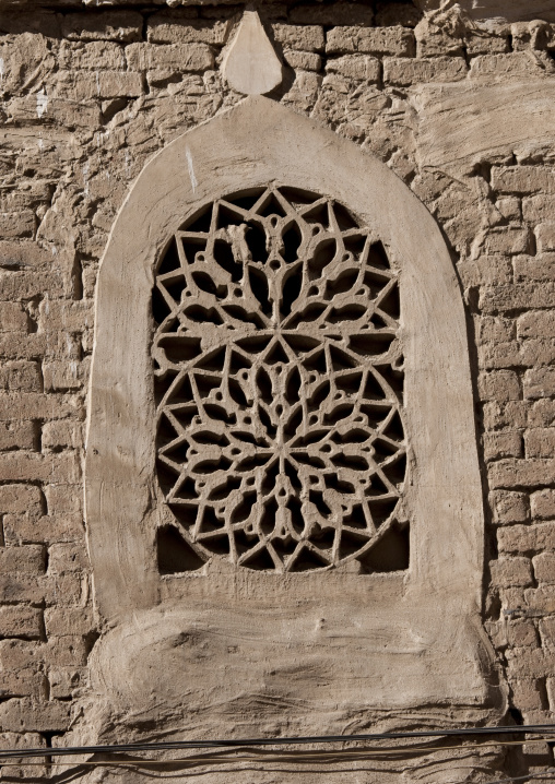 Sculpted Rose Window In Sanaa, Yemen