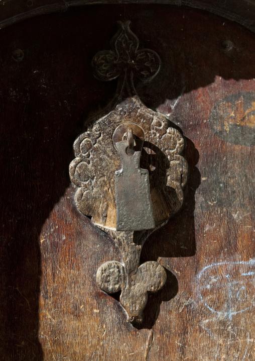 Iron Door Knocker On A Wooden Door, Sanaa, Yemen